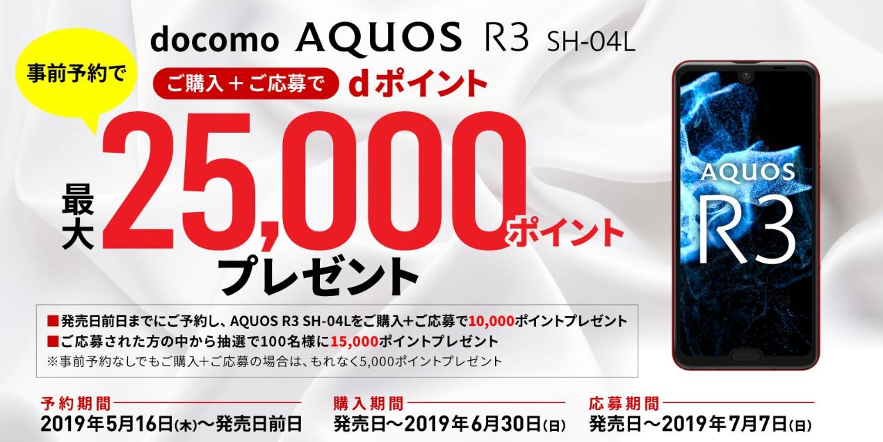 AQUOS R3 ドコモ キャンペーン